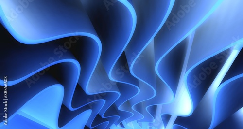 3d wavy background - 38556603