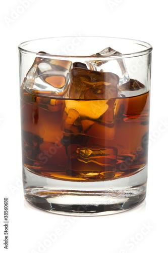 Photo  Whiskey cola cocktail