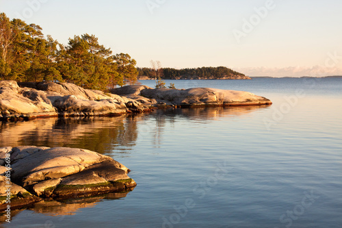 Evening at the archipelago in Sweden. Canvas Print