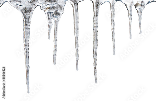 Fotomural icicles. Isolated with clipping path