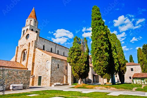 Famous Basilica di Santa Maria Assunta in Aquileia, Italy Canvas Print