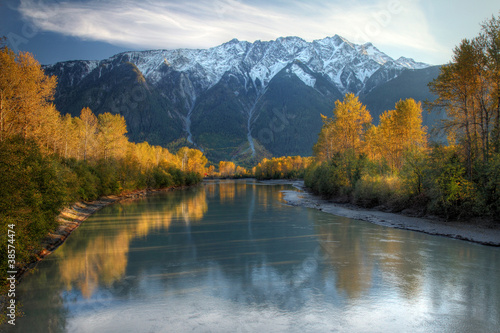 Poster Canada Lillooet river in Autumn