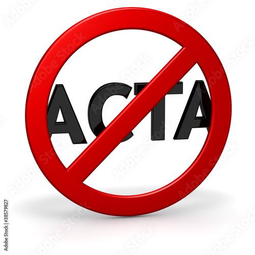 Fotografie, Obraz  ACTA Kritik und Opposition SYMBOL