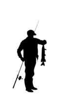 Fisherman Catching A Pike