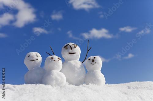 Fotografie, Obraz  雪だるま