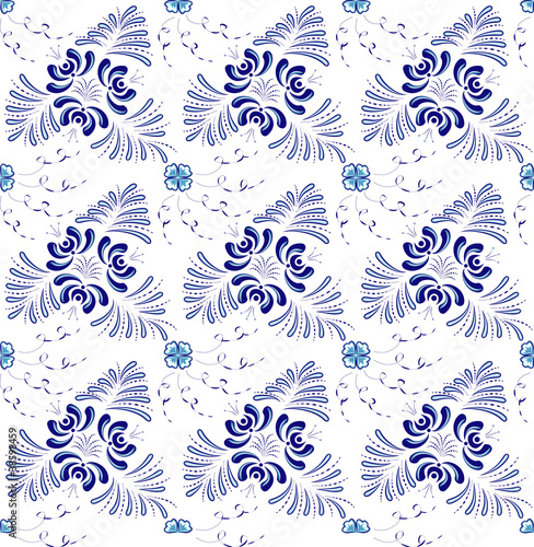 blue flowers - 38598459