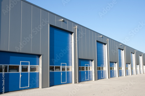 Fotobehang Industrial geb. Shutter doors