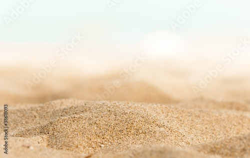 Foto-Leinwand - Closeup of some sand on the shore