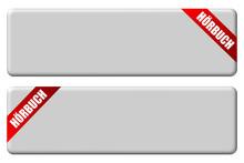 2 Button Grau Band Rot NEUTRAL HÖRBUCH