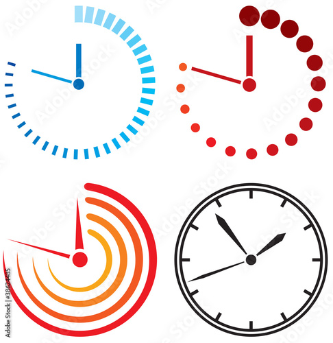 Fotografía  Clock icons