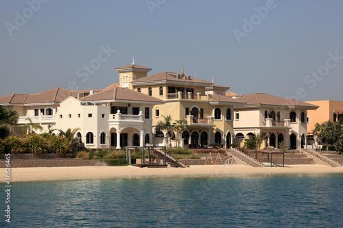 Beachside Villas at The Palm Jumeirah in Dubai Canvas Print