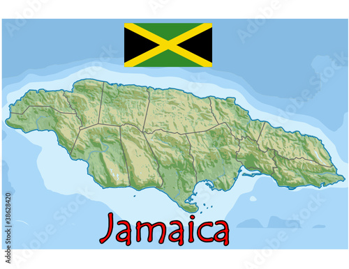 174576ac1 jamaica caribbean america map flag emblem - Buy this stock vector ...