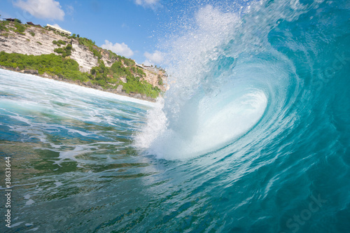 Wall Murals Ocean Blue Ocean Wave, View from in the Water
