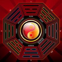 Chinesisches Iging Mit Yin Yang Symbol - Bagua