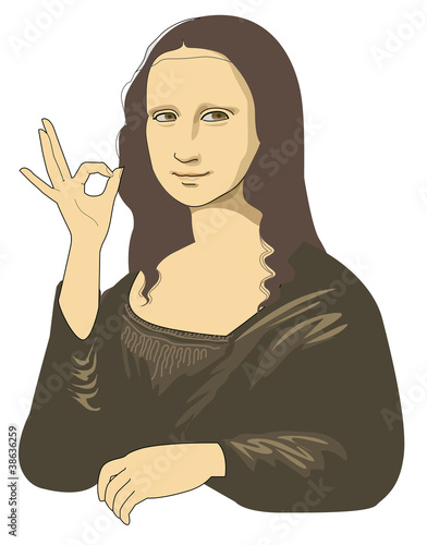 Approval of Mona Lisa Canvas Print