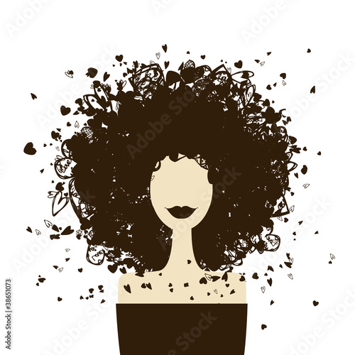 Fotobehang Vrouw gezicht Fashion woman portrait for your design