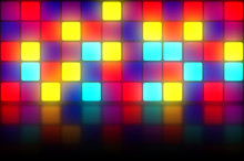 Colorful Retro Dancefloor Back...