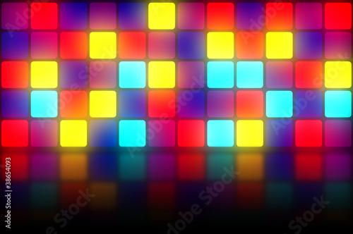 Fotografia  Colorful retro dancefloor backdrop