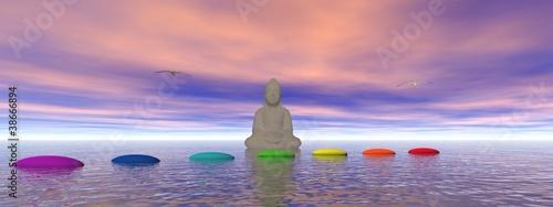Akustikstoff - steps and buddha