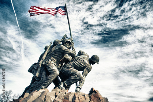Fotografie, Obraz  Marine Corps War Memorial