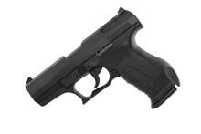 Moderne Pistole Mit Kuststoffgriff Kaliber 9mm