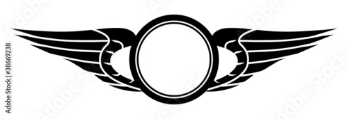 Foto  Emblem with Wings and Wheel