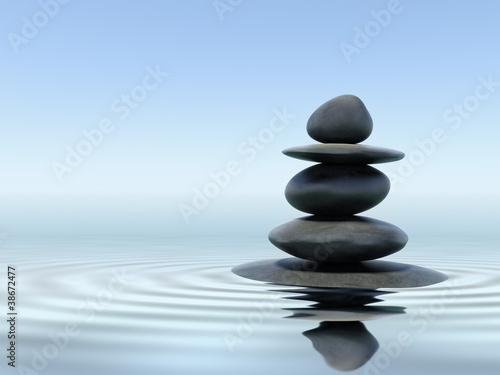 Printed kitchen splashbacks Zen Zen stones