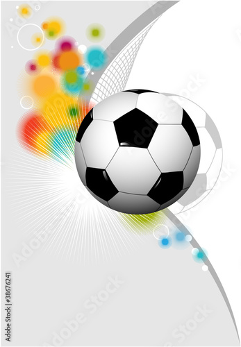 Staande foto Retro sign Abstract football background