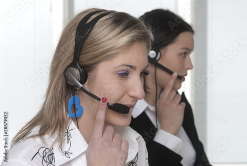 Valokuva  ragazze call center