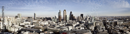 Poster London City of London panorama