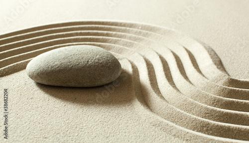 Acrylic Prints Stones in Sand zen reflection meditation