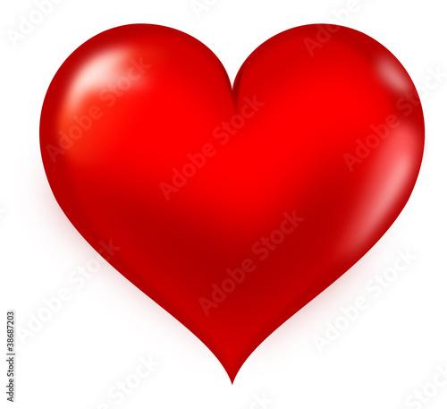 Red heart Fototapeta