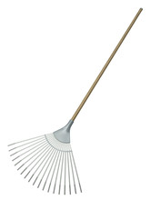 Leaf Rake Isolated On White Ba...