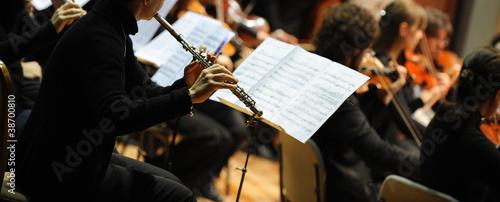 Fotografia, Obraz Woman playing flute