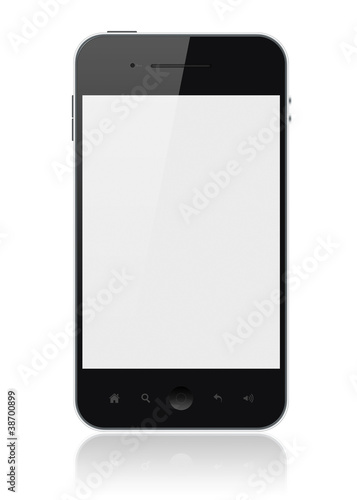 Fotografía  Smart Phone With Blank Screen Isolated