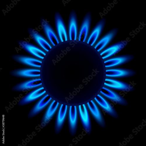 Fotografie, Obraz  gasflamme von oben III