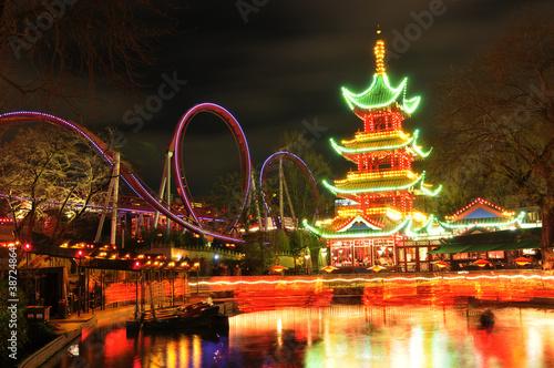 Photo  Chinese pagoda
