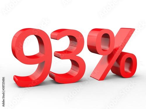 Valokuva  3d Schrift 93% rot