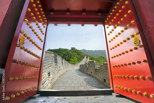 Tuinposter China Great wall of China in summer