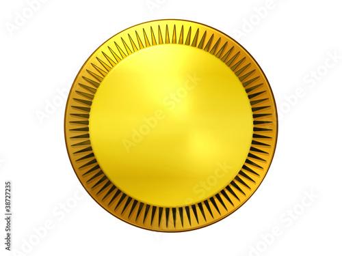 Fotografie, Obraz  goldene Medaille oder Emblem mit Textfläche