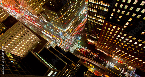 Staande foto New York TAXI 42nd Street