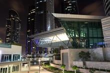 Jumeirah Lake Towers At Night, Dubai United Arab Emirates