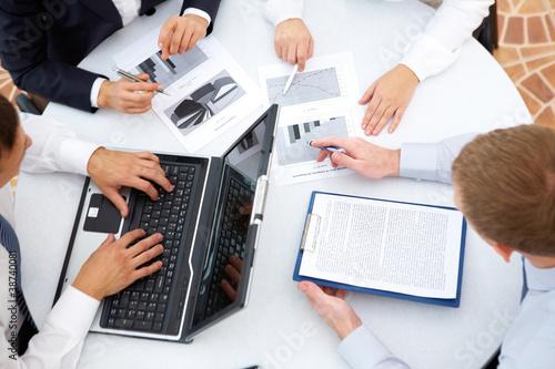 Obraz na plátně Business interaction