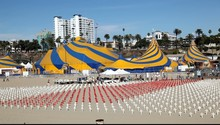 Cirque Du Soleil And Arlington West Memorial -LA, California