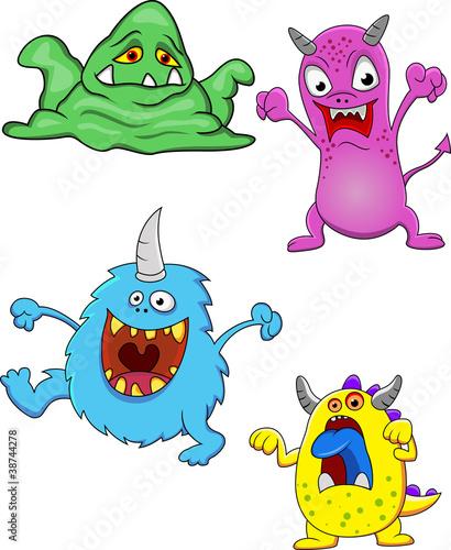 Deurstickers Schepselen Funny Monster