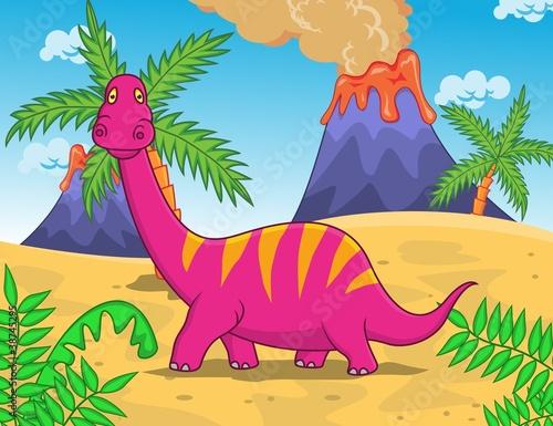 Keuken foto achterwand Dinosaurs Dinosaur Cartoon