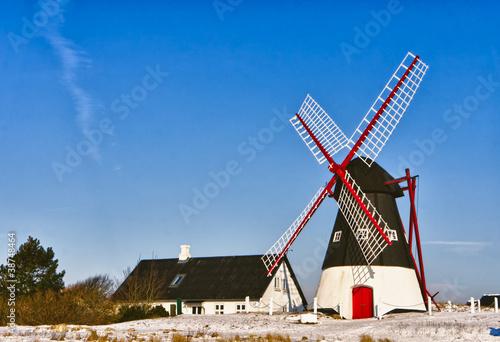 Windmill on Mando, Ribe, Denmark