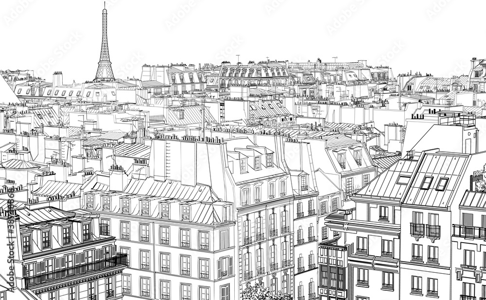 Fototapety, obrazy: roofs in Paris