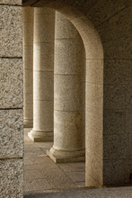 Pillars And Arch At Rhodes Mem...