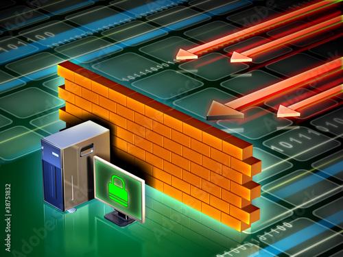 Fotografía  Computer firewall